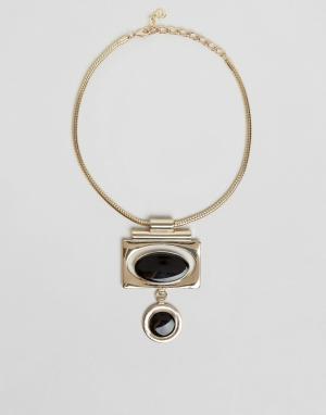 Pilgrim Броское ожерелье ар-деко. Цвет: золотой