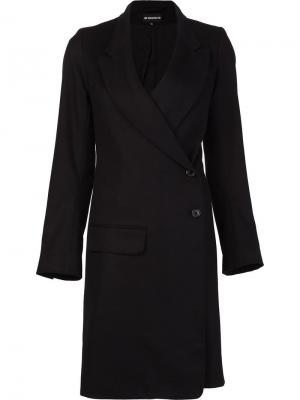 Пальто с диагональной застежкой на пуговицы Ann Demeulemeester. Цвет: чёрный