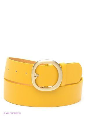 Ремень Oodji. Цвет: желтый