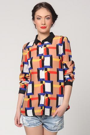 Рубашка Christina Dea. Цвет: мультицвет