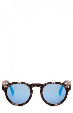 Очки солнцезащитные Illesteva. Цвет: синий