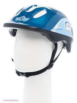 Шлем роликовый Larsen. Цвет: синий, голубой