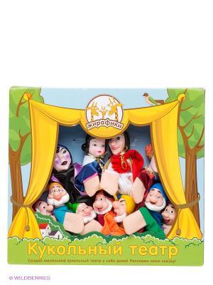 Игровой набор Театр Белоснежка Жирафики. Цвет: желтый, зеленый, голубой