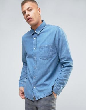 Cheap Monday Джинсовая рубашка Squared. Цвет: синий