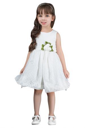 Платье без рукавов с украшением в виде цветка BOOM. Цвет: белый