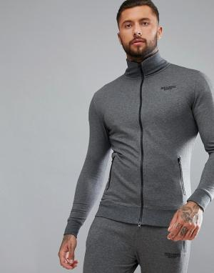 Muscle Monkey Серая спортивная куртка. Цвет: серый