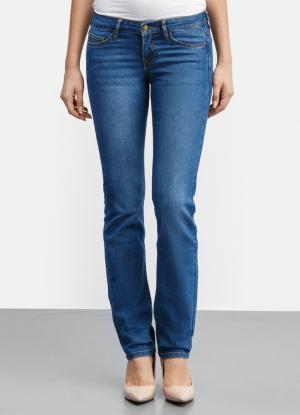 Базовые джинсы Straight Fit OSTIN. Цвет: светло-синий