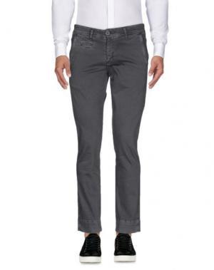 Повседневные брюки EXIBIT. Цвет: свинцово-серый