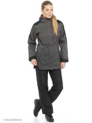 Куртка MELLOW RANGE WOMEN Jack Wolfskin. Цвет: темно-серый