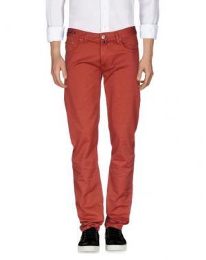 Джинсовые брюки PT05. Цвет: ржаво-коричневый