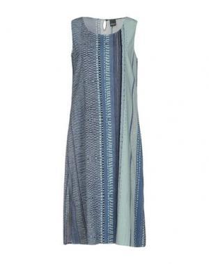 Платье до колена LORENA ANTONIAZZI. Цвет: грифельно-синий