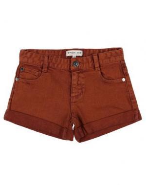 Джинсовые шорты TWIN-SET Simona Barbieri. Цвет: коричневый