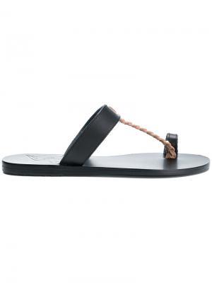 Сандалии Melpomeni Ancient Greek Sandals. Цвет: чёрный