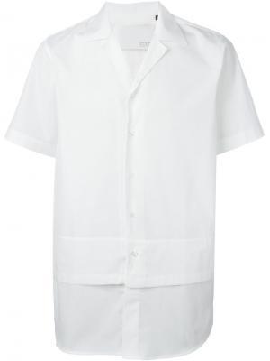 Двухслойная рубашка с короткими рукавами Matthew Miller. Цвет: белый