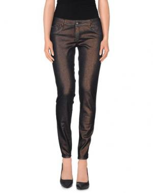 Повседневные брюки NINE:INTHE:MORNING. Цвет: темно-коричневый