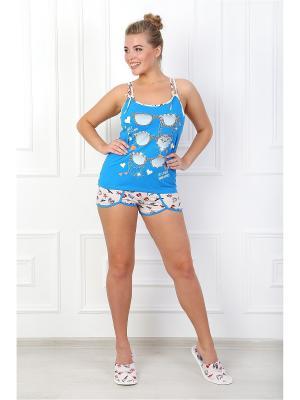 Пижама Бикини 2 ВиоТекс Партнер. Цвет: голубой, кремовый