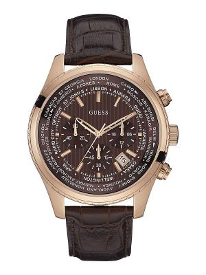 Часы GUESS. Цвет: коричневый