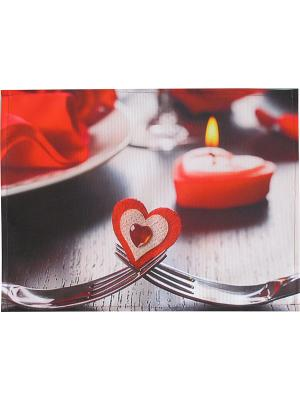 Плейсмат набор 2шт, принт Valentines day, ткань с водоотталкивающей пропиткой Dorothy's Нome. Цвет: красный