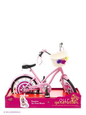 Велосипед для куклы OG Dolls. Цвет: черный, голубой, бежевый, розовый