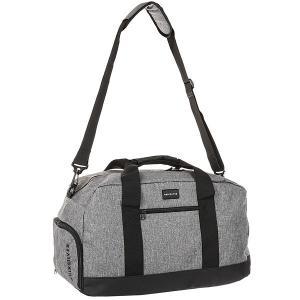 Сумка спортивная  Medium Shelter Light Grey Heather Quiksilver. Цвет: черный,серый