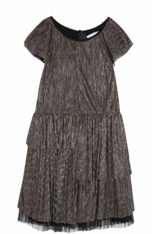 Платье с металлизированной отделкой Marc Jacobs. Цвет: золотой
