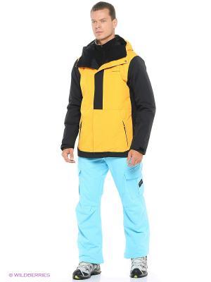Куртка Quiksilver. Цвет: желтый