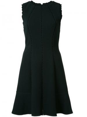Расклешенное платье Rebecca Taylor. Цвет: чёрный