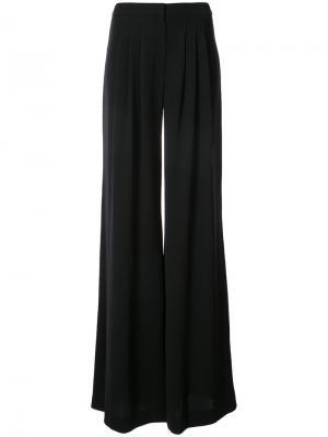 Широкие брюки со складками Carolina Herrera. Цвет: чёрный