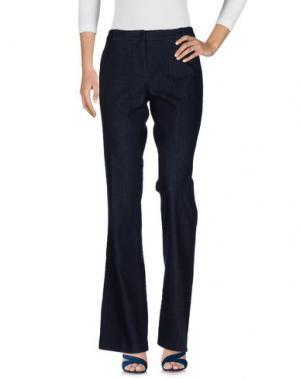 Джинсовые брюки KILTIE. Цвет: синий