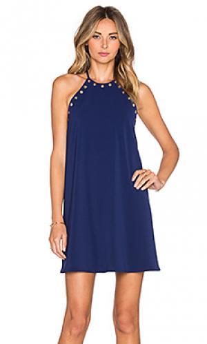 Мини платье montauk Amanda Uprichard. Цвет: синий
