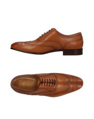 Обувь на шнурках BROOKS BROTHERS. Цвет: желто-коричневый