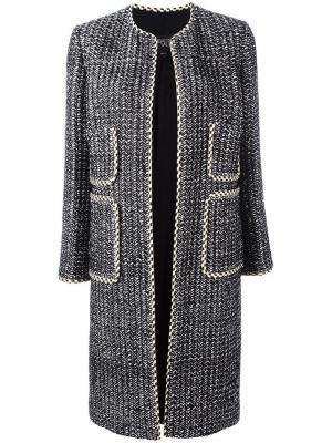 Пальто без застежки с накладными карманами Giambattista Valli. Цвет: чёрный