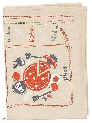 Полотенце льняное Ингридиенты GrandStyle. Цвет: красный, серый
