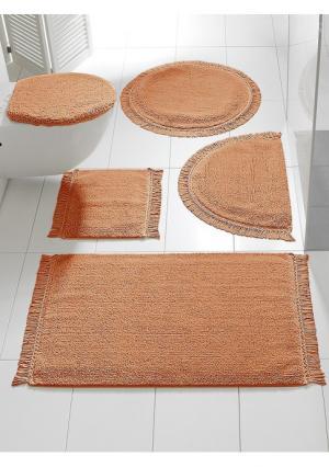 Коврик для ванной Heine Home. Цвет: зеленый, оранжевый, цвет баклажана