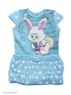 Платье Tocka. Цвет: голубой