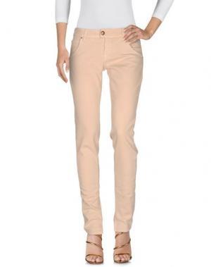 Джинсовые брюки E-GÓ. Цвет: бежевый