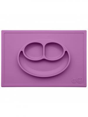 Тарелка с подставкой Ezpz Happy Mat Berry. Цвет: темно-фиолетовый