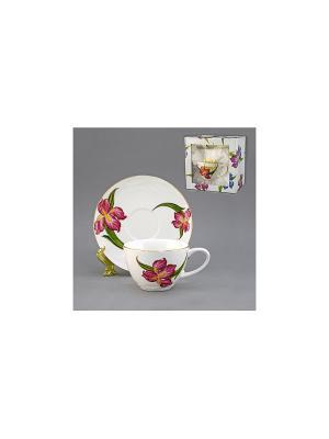 Набор чайный 2 пр. ГИАЦИНТ 250 мл BRISWILD. Цвет: белый