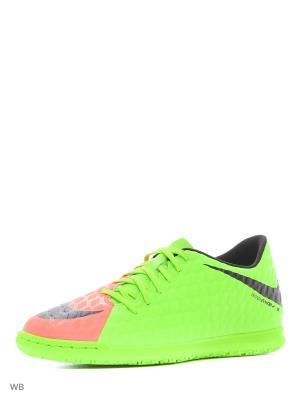 Бутсы HYPERVENOMX PHADE III IC Nike. Цвет: зеленый