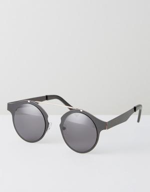 Spitfire Черные круглые солнцезащитные очки Intergalactic. Цвет: черный