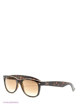 Очки солнцезащитные NEW WAYFARER Ray Ban. Цвет: коричневый