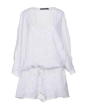 Короткое платье VIX PAULAHERMANNY. Цвет: белый