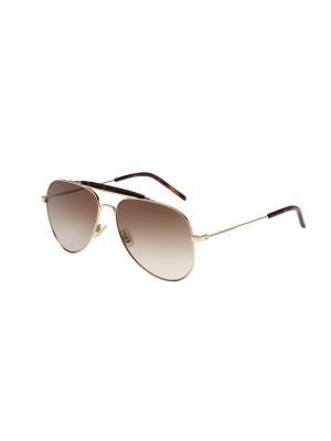 Солнцезащитные очки Saint Laurent. Цвет: золотистый, прозрачный