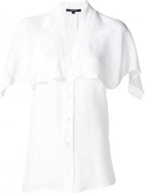 Блузка с вшитой накидкой Derek Lam. Цвет: белый