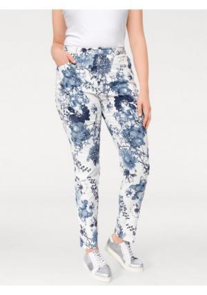 Моделирующие брюки ASHLEY BROOKE by Heine. Цвет: белый/джинсовый синий