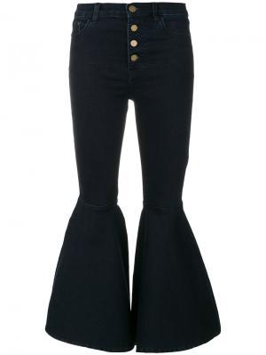Расклешенные джинсы с высокой талией Jovonna. Цвет: синий