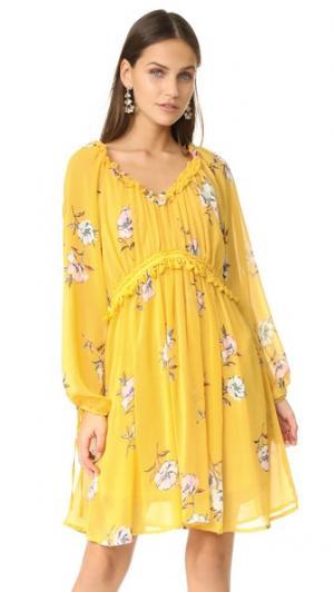 Платье с цветочным рисунком Moon River. Цвет: желтый мульти