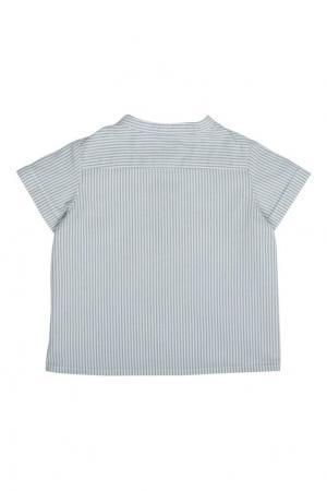 Хлопковая рубашка Emilio Bonpoint. Цвет: голубой