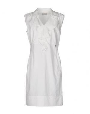 Короткое платье ROBERTA SCARPA. Цвет: белый
