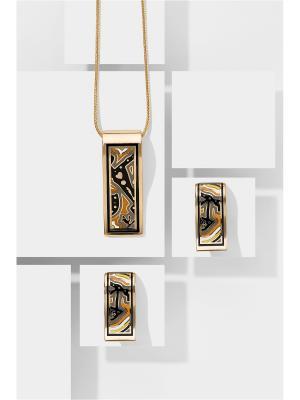 Набор украшений Грезы Клеопатры: цепочка с кулоном и серьги Nothing but Love. Цвет: черный, оранжевый, серый